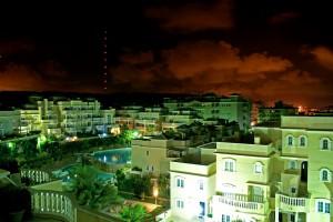 Kveldsbilde av Portico Mar